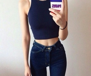 girl, style, and thin image