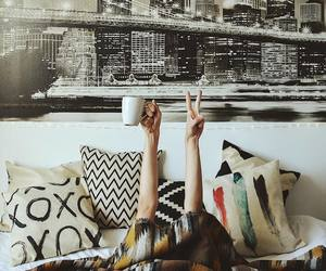 adventure, bed, and coffee image