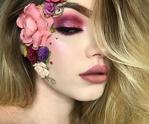 Halloween, beauty, and flowers image