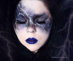 Halloween, makeup, and storm image