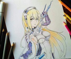 drawing, danmachi, and ais wallenstein image
