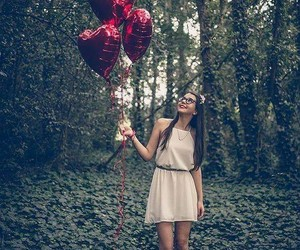 balloons, girl, and happiness image