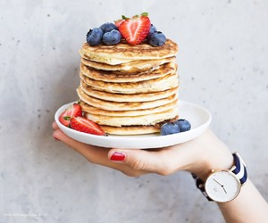 pancakes, food, and watch image