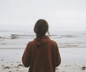 girl, sea, and grunge image