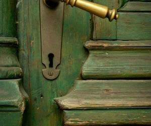 door and green image