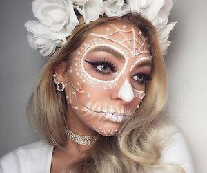 girl, makeup, and Halloween image