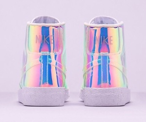 nike, shoes, and holographic image