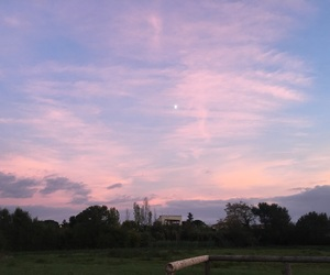 moon, pastel colors, and sky image