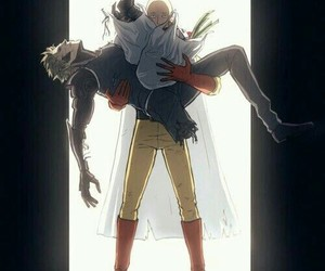 saitama, genos, and one punch man image