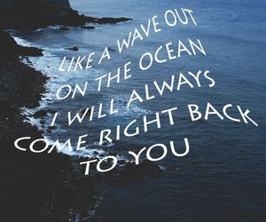 Lyrics, ocean, and love image