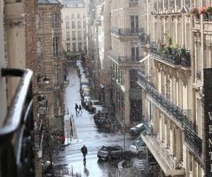 city, snow, and street image