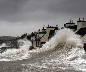 flood, Houses, and photograhy image