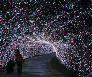 light, tunnel, and christmas image