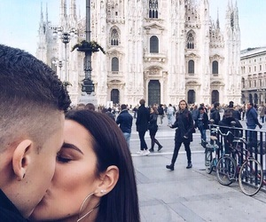 couple, italy, and milan image