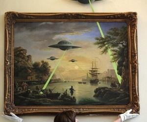 alien, art, and Ovni image