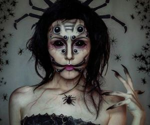 makeup, creepy, and Halloween image