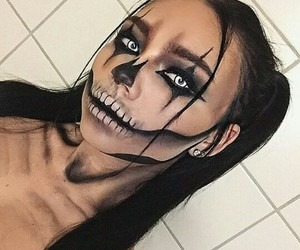 makeup, Halloween, and scary image