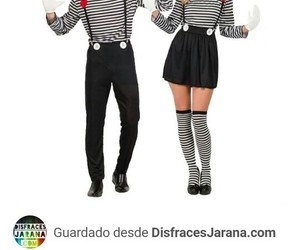 black and white, costume, and couple image