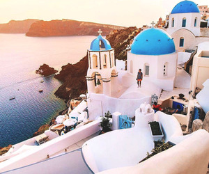 Greece, photography, and santorini image