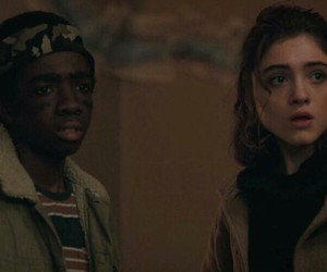 fight, natalia dyer, and nancy wheeler image