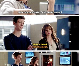 barry allen, caitlin snow, and the flash image