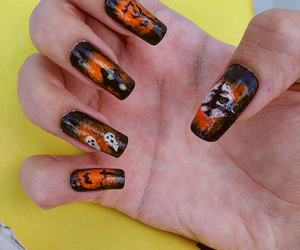 nails, my nails, and nails for halloween image