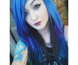 blue, hair, and colored hair image