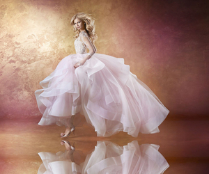 bridal gown, haute couture, and sparkling image