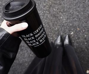 black, grunge, and coffee image