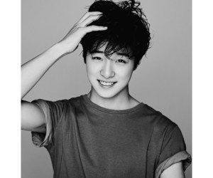 b & w, black and white, and kpop image