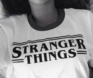 stranger things and black and white image
