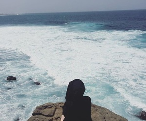 breathe, hijab, and waves image