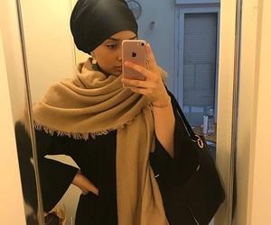 mirror, turban, and selfie image