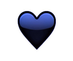 emoji, heart, and black image