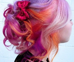 colored hair, orange, and hair image