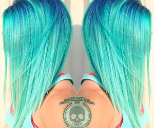 colored, colored hair, and hair image