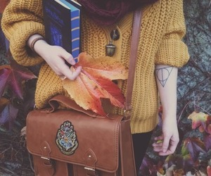 autumn, harry potter, and yellow image