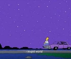 simpsons, purple, and world image