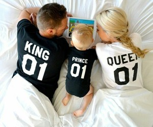 family, couple t-shirts, and baby image
