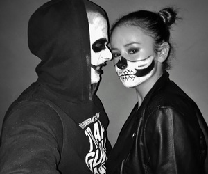 black, couple, and Halloween image