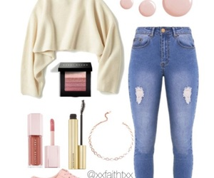 clothes, fashion, and makeup image