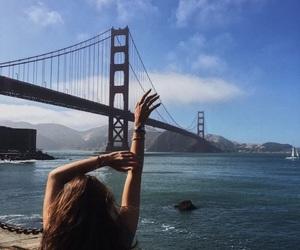 bridge, ocean, and travel image