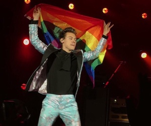 Harry Styles, harry, and flag image