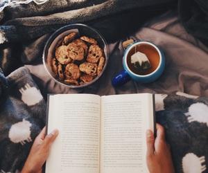 bed, boho, and book image