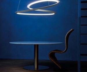 blue, walls, and modern decor image