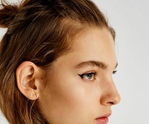 beautiful, brown, and makeup image