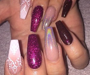 details, nails, and love image