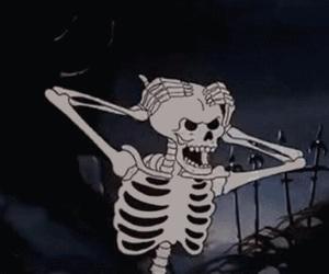 skeleton, grunge, and Halloween image
