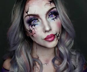 girl and Halloween image