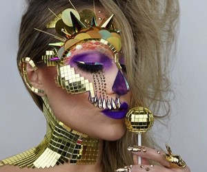 beauty, makeup, and whi image